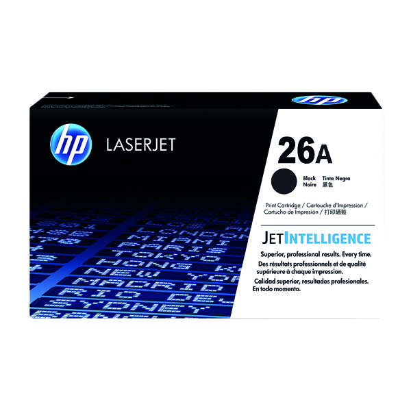 HP 26A (Yield: 3,100 Pages) Black Toner Cartridge