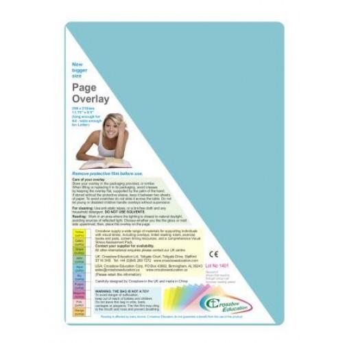 Coloured Page Overlay Aqua Pk10