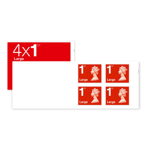 Large Letter 1st Class Stamps PK4 (First Class Large) - Robert Hall