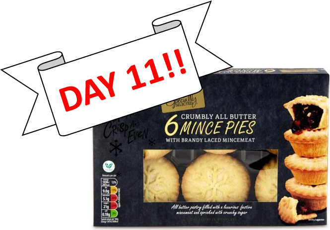SPEND £60 OR MORE FOR A FREE BOX OF MINCE PIES!!