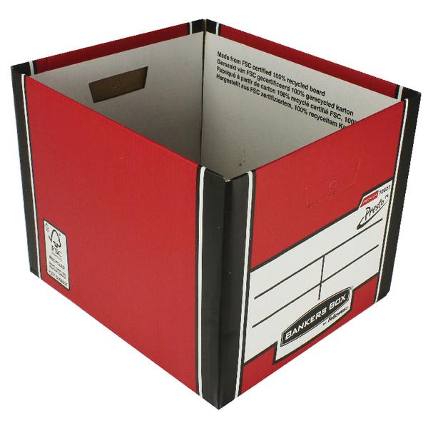 Fellowes Red/Wht Presto Store Box BOGOF