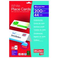 Decadry PlaceCard White Pk44 OCB5107