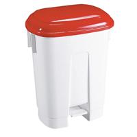 FD 30 Litre Plastic Bin White/Red 348021