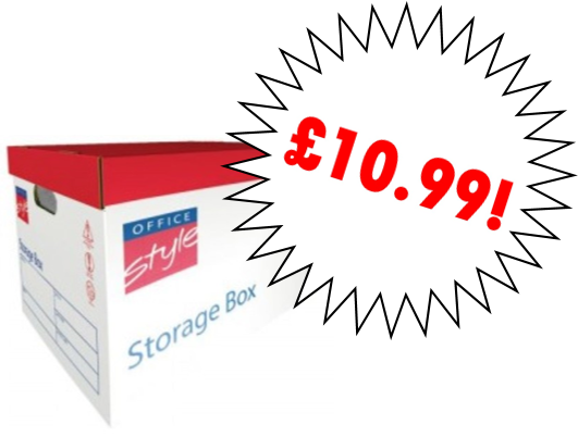 Office Style Premium Storage Boxes Pk10 381x330x282mm