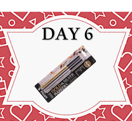 12 Days of Xmas - GOLD & SILVER PENS