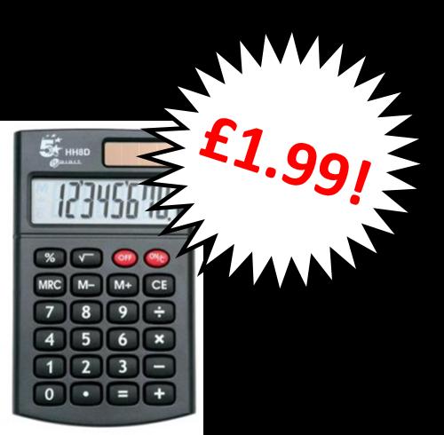 5 Star 8 Digit Handheld Calculator