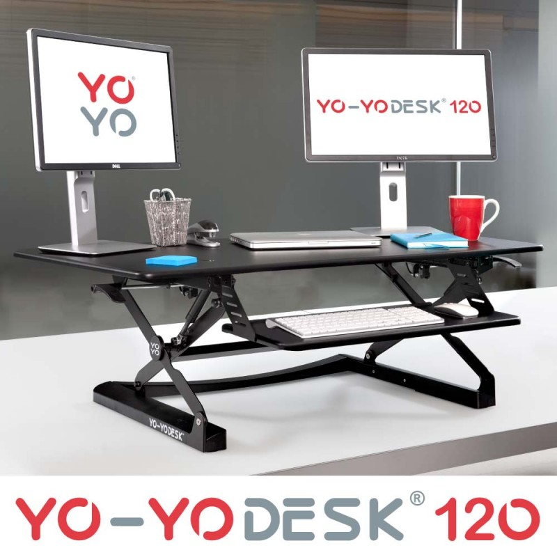 YO-YO Desk 120 Black NCA1758