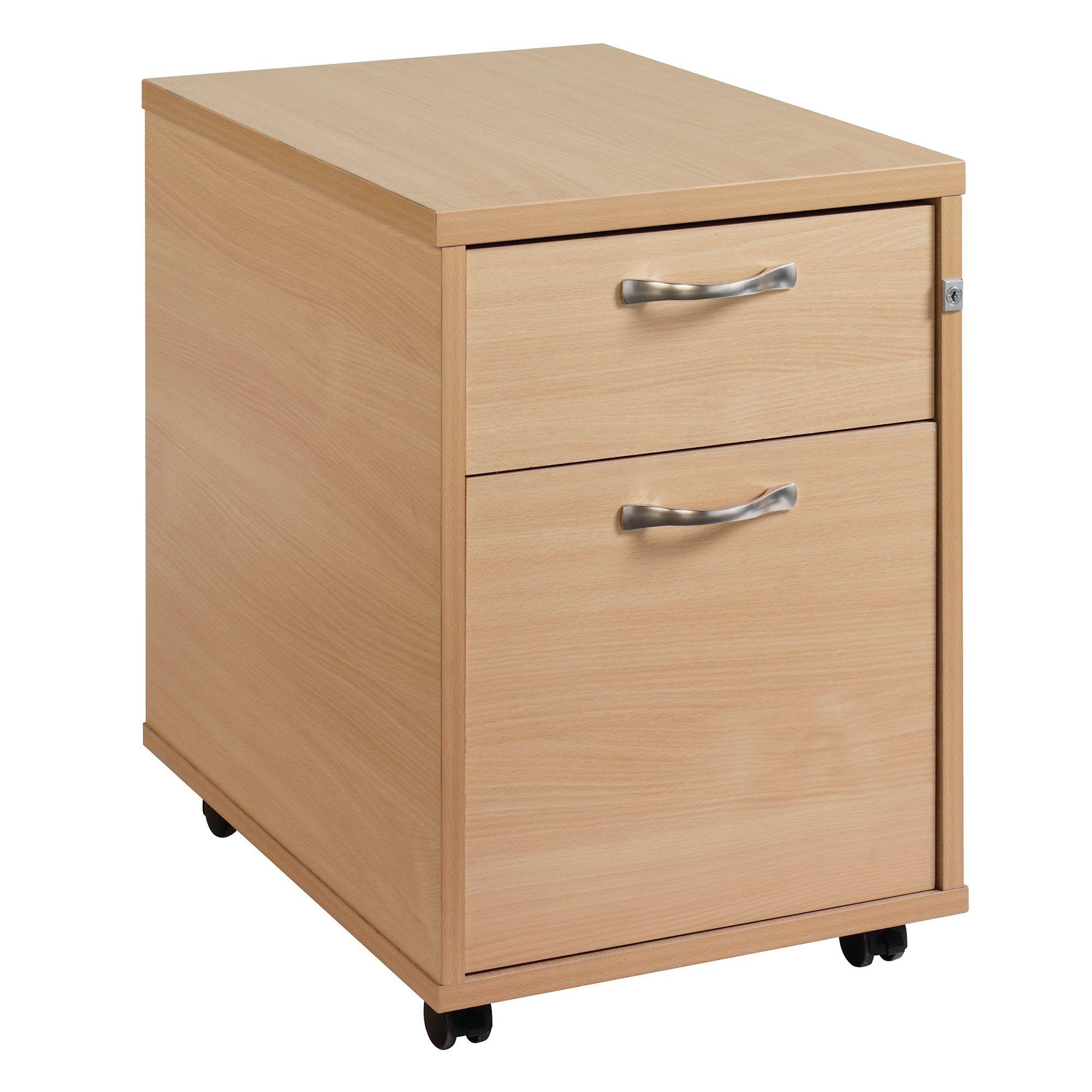 2 Draw Mobile Pedestal Maple