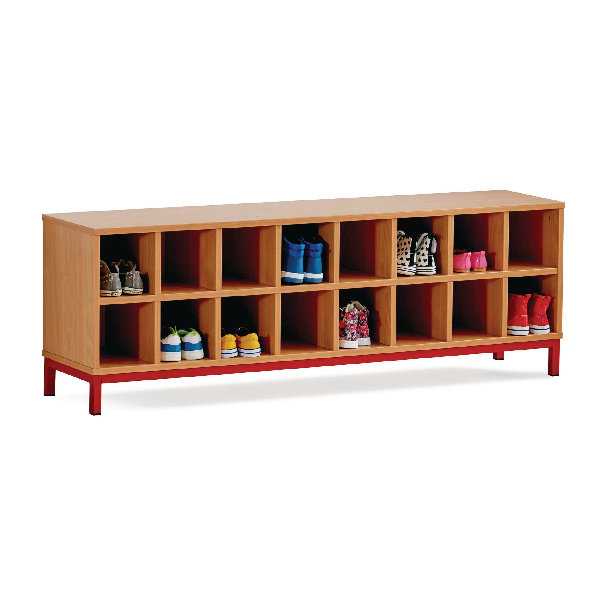 Maple 16 Open Bench Red
