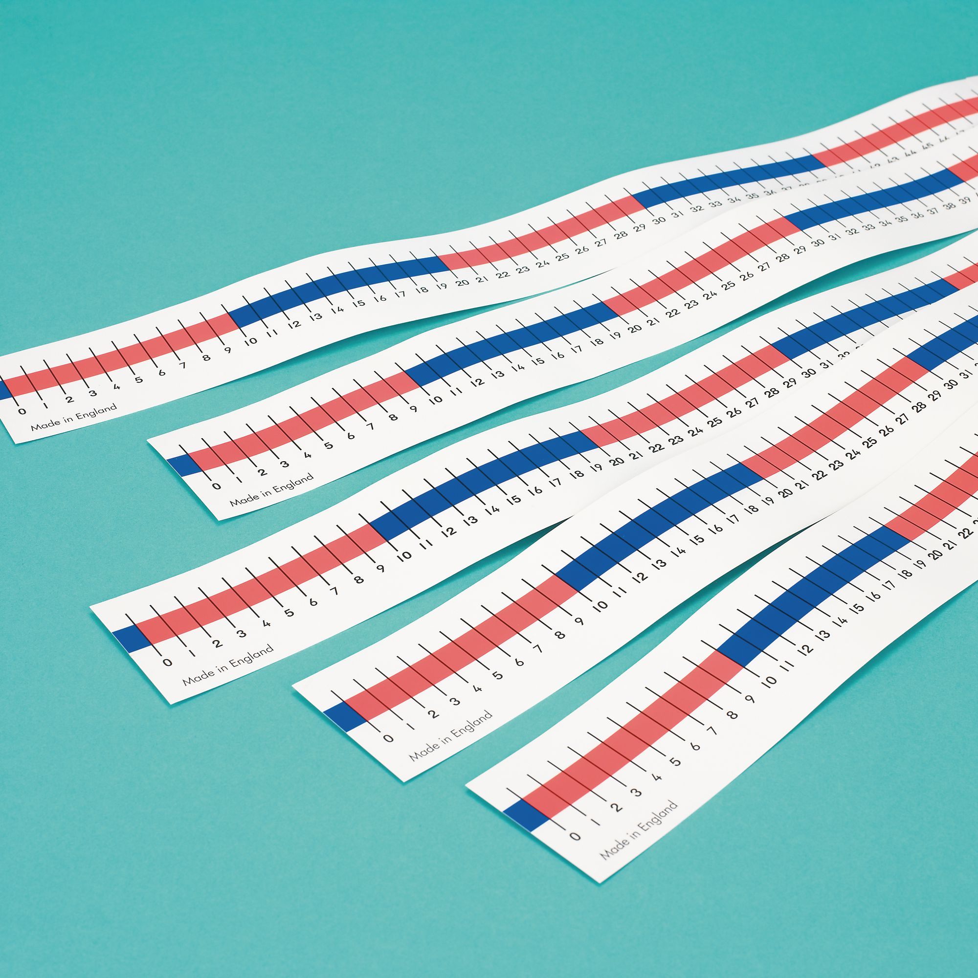 0-100 Table Top Number Lines Pk5