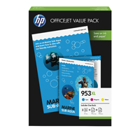 HP 953XL Office Value Pack (Cyan/Magenta.Yellow) Ink