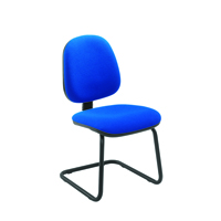 FF Jemini Medium Back Visitor Chair Blue