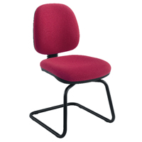 FF Jemini Med Back Visitor Chair Claret