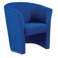 FF Jemini Tub Fabric Chair Blue