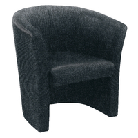FF Jemini Tub Fabric Chair Charcoal