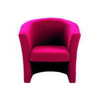 FF Jemini Tub Fabric Chair Claret