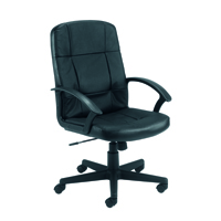 FF Jemini Leather Executive Chair Black