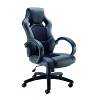 FF Arista Bolt Leather Racing Chair Blk