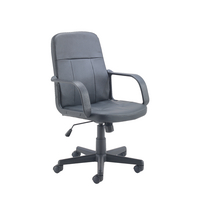 FF Jemini Trent Budget Leather Chair Blk
