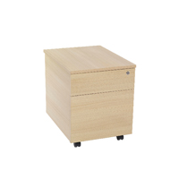 FF Jemini 2 Drawer Mobile Pedestal Maple