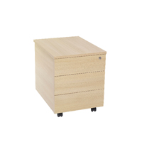 FF Jemini 3 Drawer Mobile Pedestal Maple