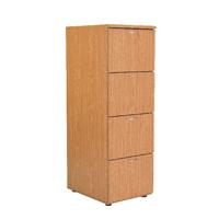 FF Jemini 4 Drw Filing Cabinet Oak