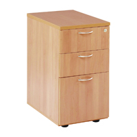 FF Jemini 3 Drw Desk High Ped 600 Beech
