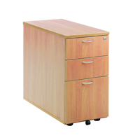 FF Jemini 3 Drw Desk High Ped 800 Beech