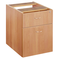 FF Jemini 2 Drawer Fixed Ped Beech