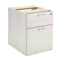 FF Jemini 2 Drawer Fixed Ped Maple