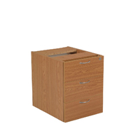 FF Jemini 3 Drawer Fixed Ped Oak