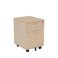 FF Jemini 2 Drawer Mobile Ped Maple