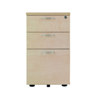 FF Jemini 3 Drawer Under-Desk Ped Maple