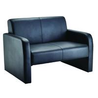 FF Arista Reception Sofa Flat Pk Blk Pu