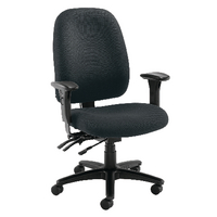 FF Avior H/Duty Hb Chair W Lumbar Black