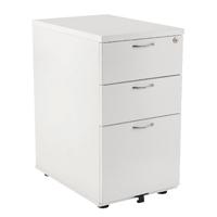 FF Jemini 3Drw Desk Hi Pedestal 600D Wh