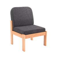 FF Arista Reception Seat Bch Veneer Char