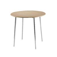 FF Arista Round Bistro Table Bch/Chrome