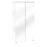 FF Jemini 1800mm Cupboard 4 Shelves Wh