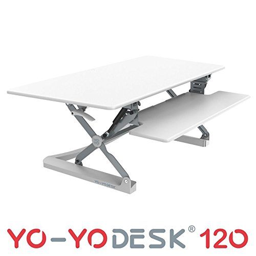 YO-YO Desk 120 White 1190x590x150-500mm (WxDxH)