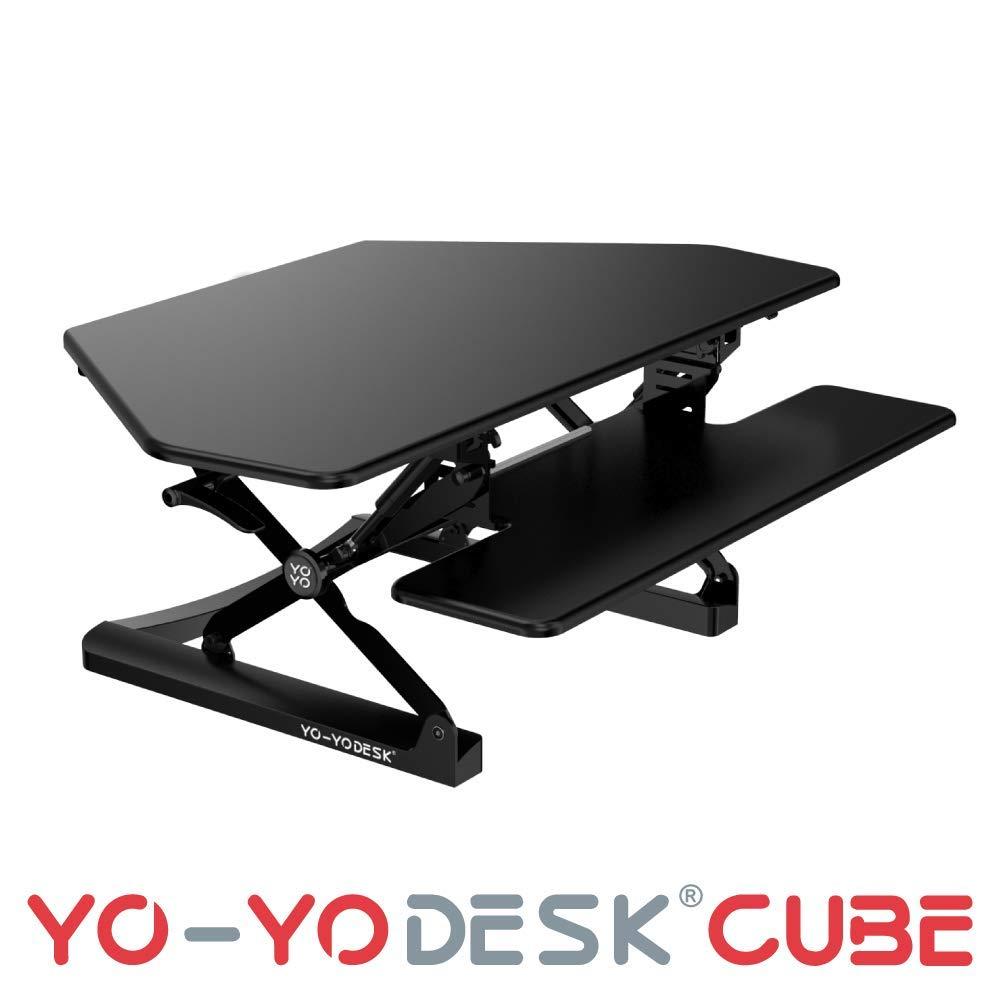 YO-YO Desk Cube Black 105x59x15-50cm (WxDxH)