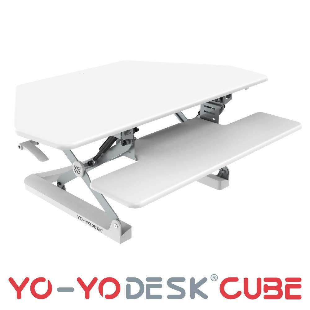 YO-YO Desk Cube White 105x59x15-50cm (WxDxH)