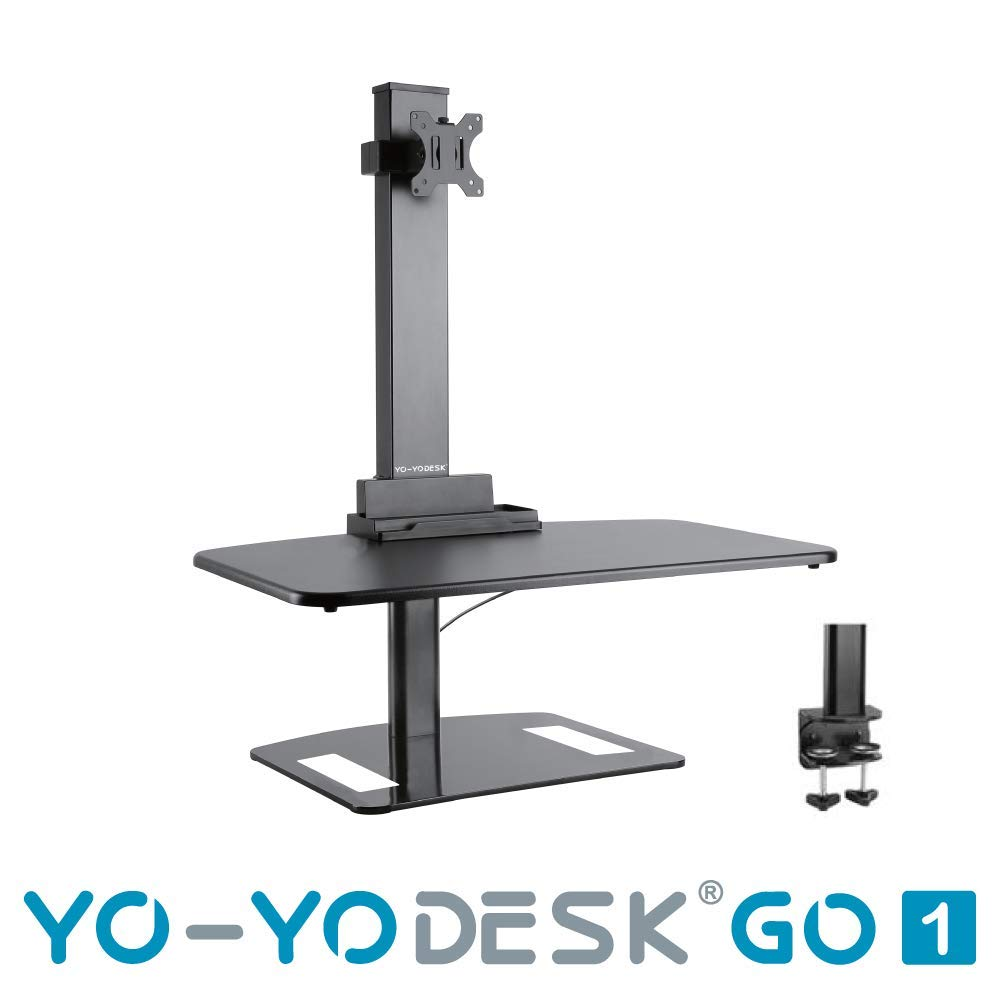 YO-YO Desk Go 1 Black 76x48cm (WxD), Height:
