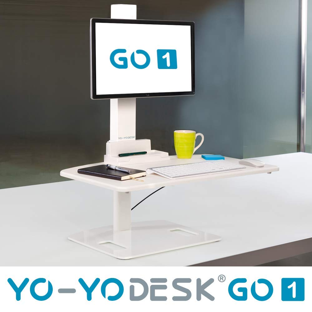 YO-YO Desk Go 1 White 76x48cm (WxD), Height: