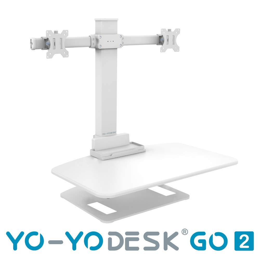 YO-YO Desk Go 2 White 76x48cm (WxD), Height: