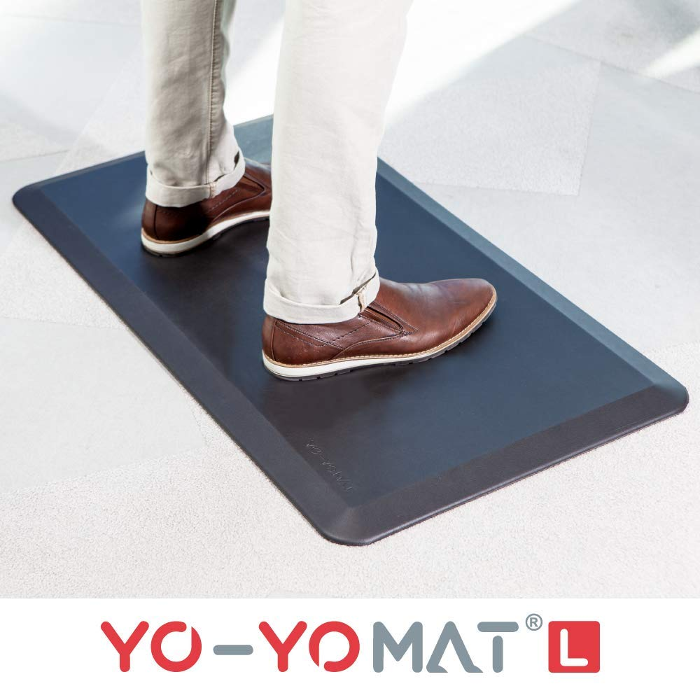 YO-YO Mat Large Black 92x50cm, Medium Density