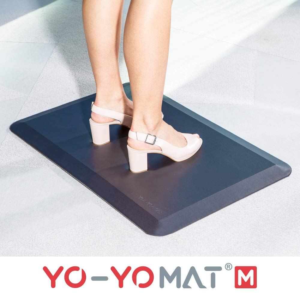 YO-YO Mat Medium Black 77x50cm, Soft Density