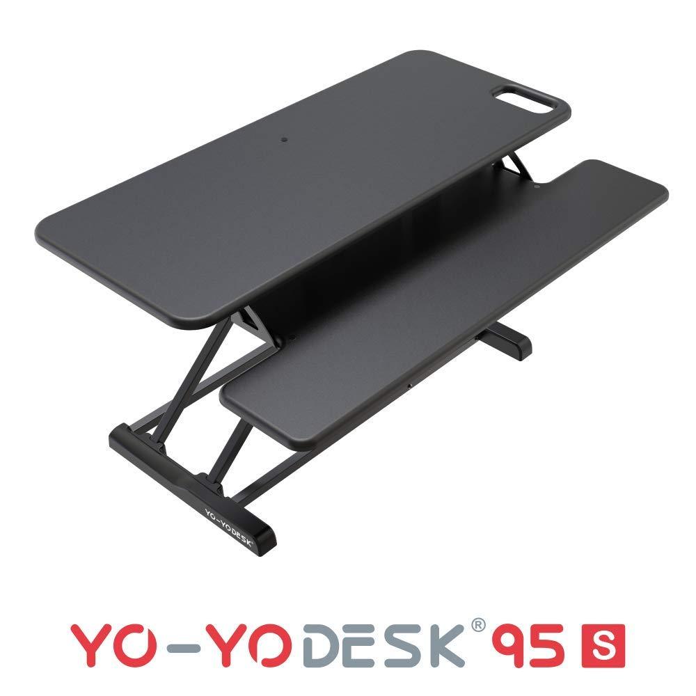 YO-YO Desk 95-S Black 95x30x10-50cm (WxDxH)