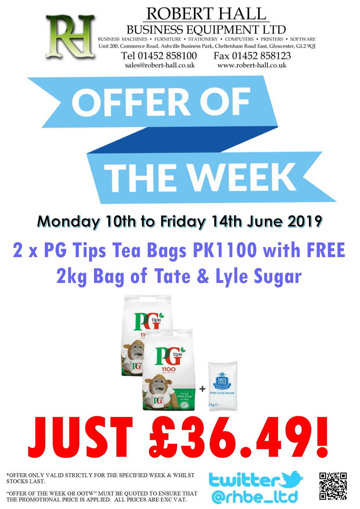 Offer Of The Week: PG Tips Tea Bags 2x1100 with FREE Sugar