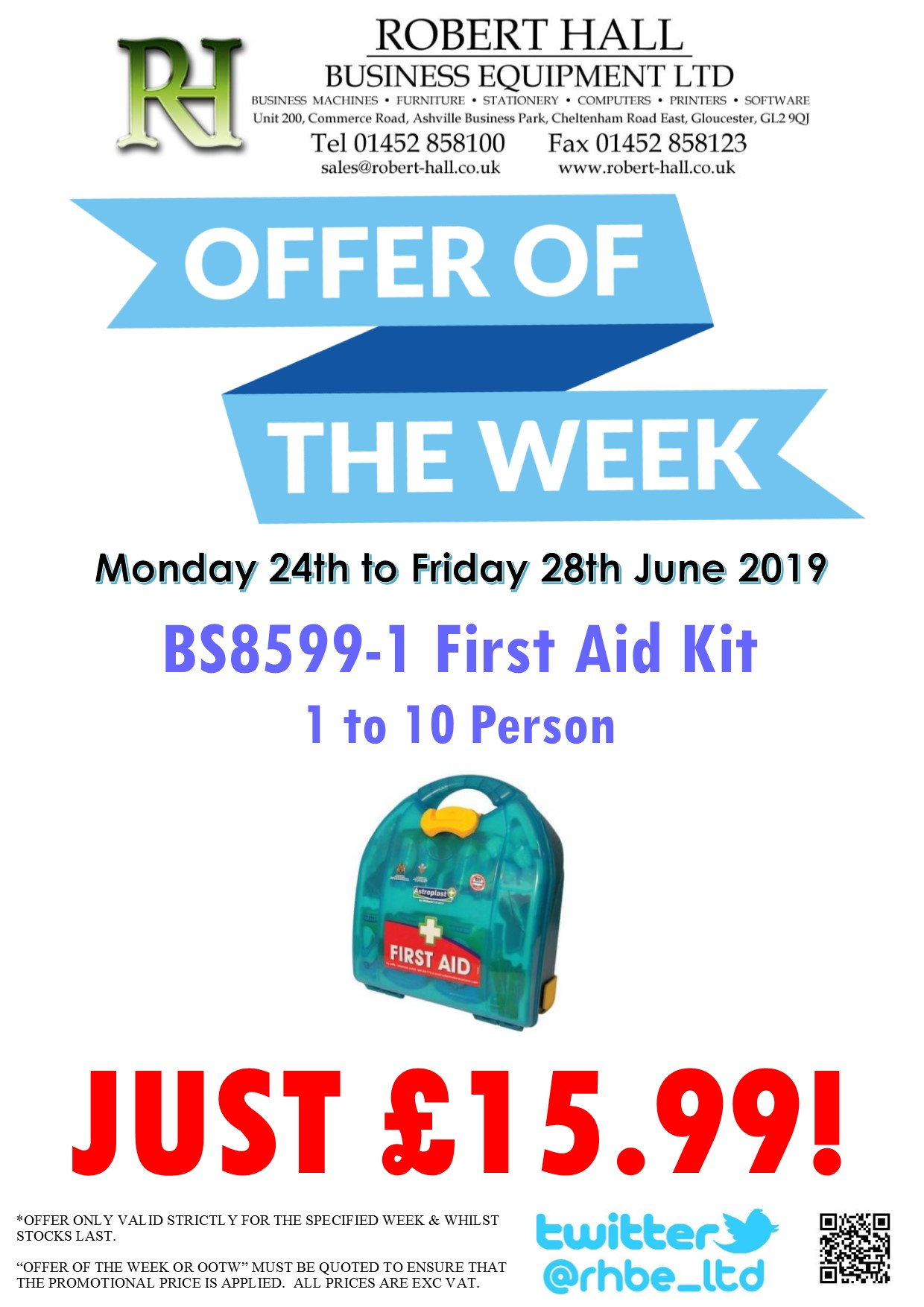 Offer Of The Week: BS8599-1 First Aid Kit - 1 to 10 Person
